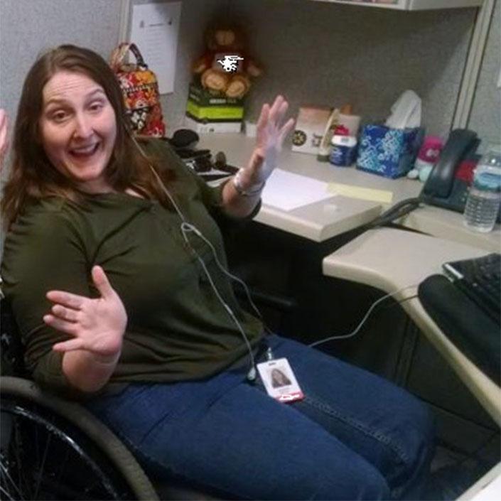 Jennifer Britts at work