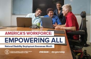 Disability Employment Awareness Month Poster