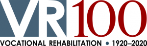 Vocational Rehabilitation 100 Year logo