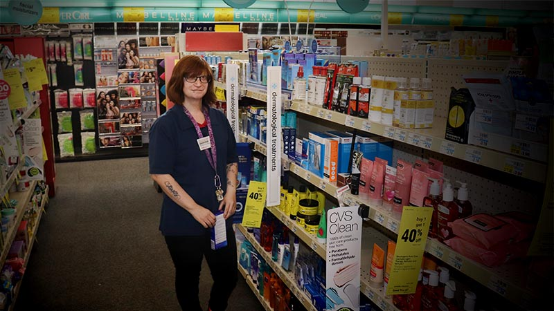 woman in CVS store